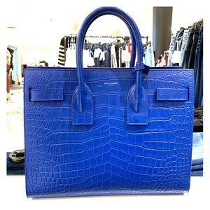 Yves Saint Laurent Croc Embossed Sac Du Jour
